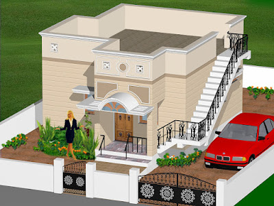 High Quality 3D House Plans