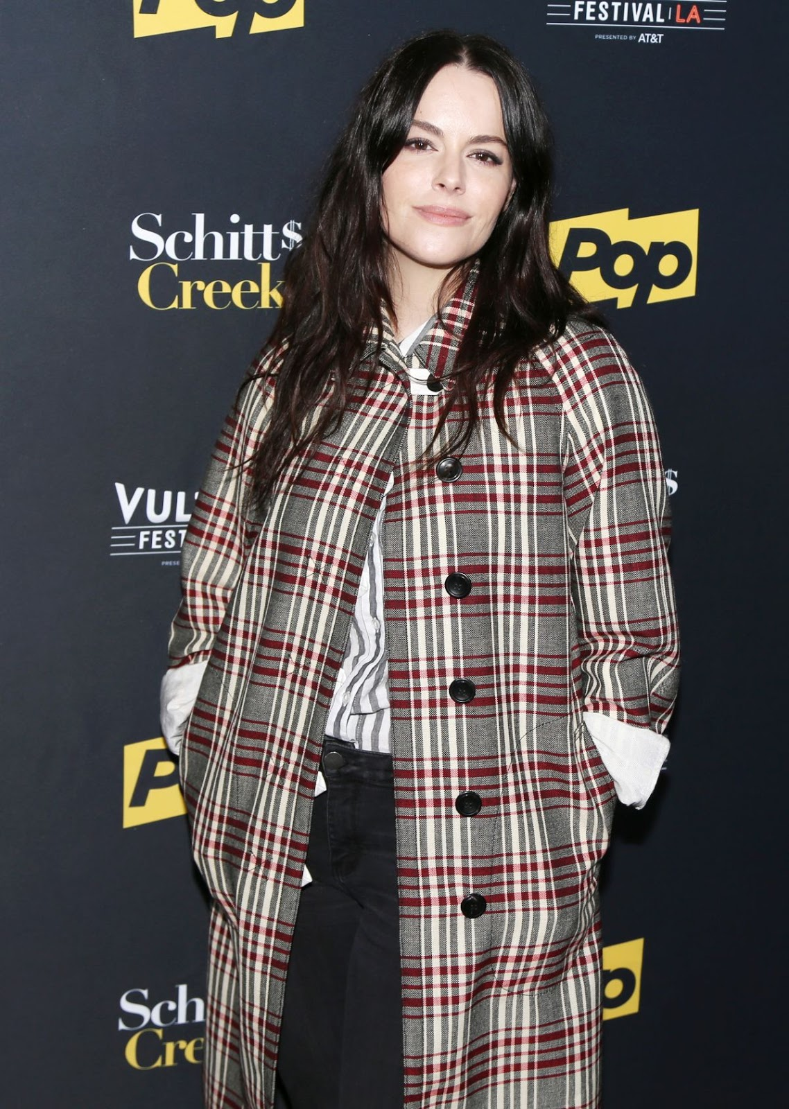 Photos of Emily Hampshire at Schitt's Creek Panel at Vulture Festival in Los Angeles