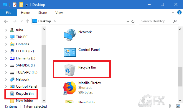 How To Add or Remove Recycle Bin in Navigation Pane