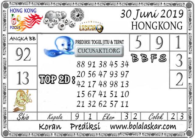 Prediksi Togel HONGKONG LASKAR4D 30 JUNI 2019