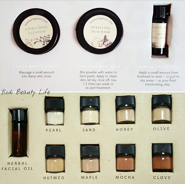 sample kit annmarie skincare purify earth minerals foundation recensione review