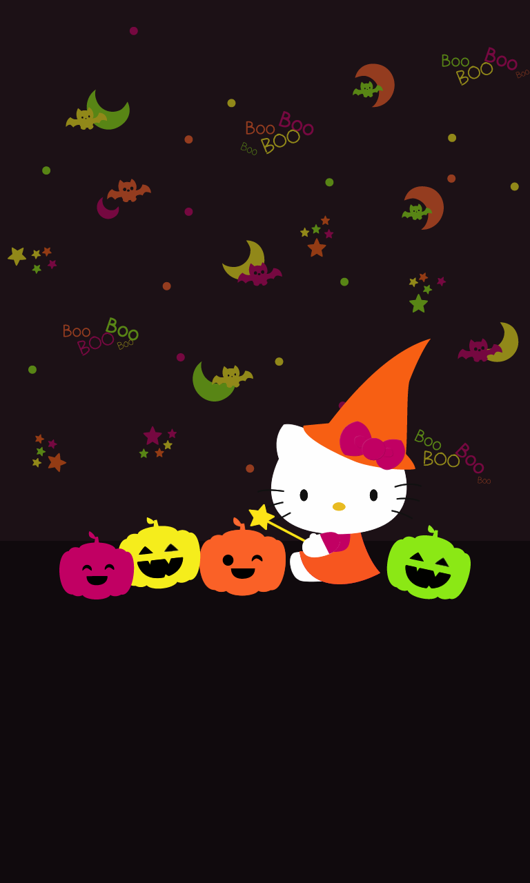 How To Make Wallpaper Fit On Iphone 6 Blueberrythemes Hello Kitty Wallpapers Halloween Edition