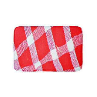 Masai print bath mat