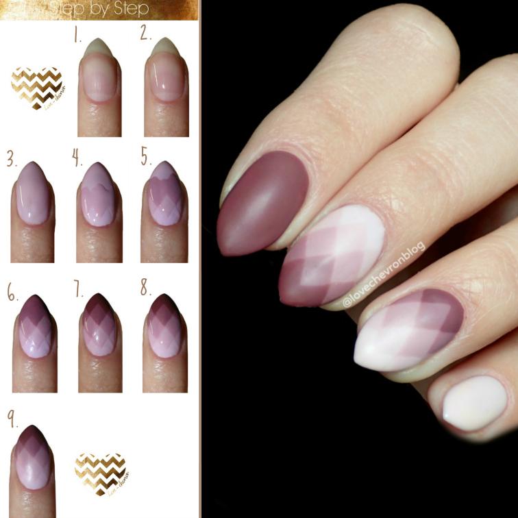 jak zrobić geometryczne ombre na paznokciach