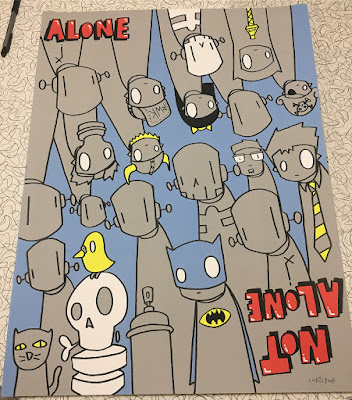 "Five Points Festival 2018 Exclusive ""Alone. Not Alone."" Screen Print by Chris RWK x Galerie F"