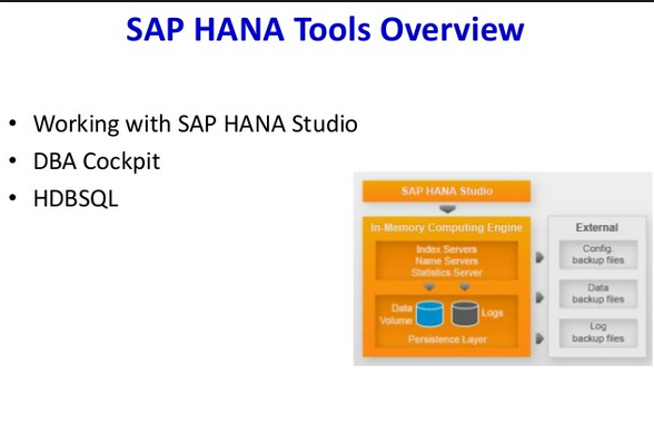 Learn SAP HANA ADMIN | SAP HANA ADMIN Tools | SAP HANA ADMIN