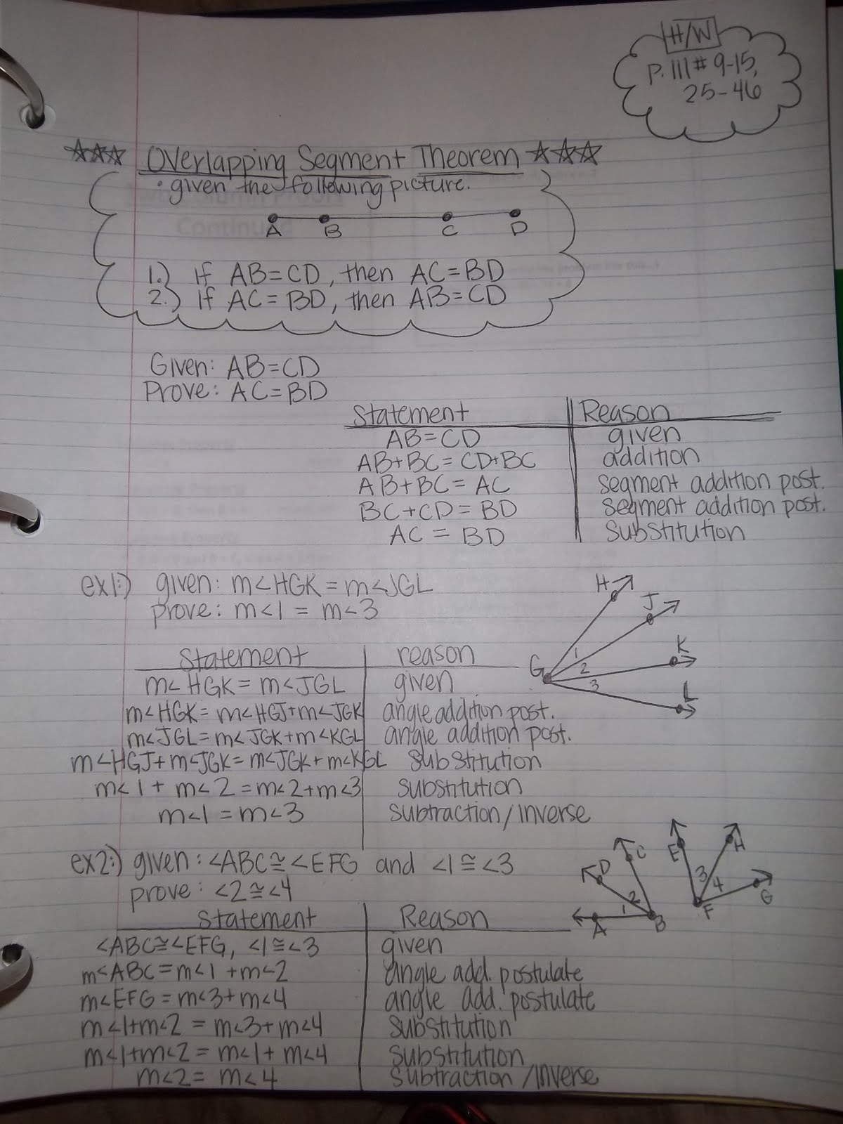 Geometry 2 4b Two Column Proofs Continued