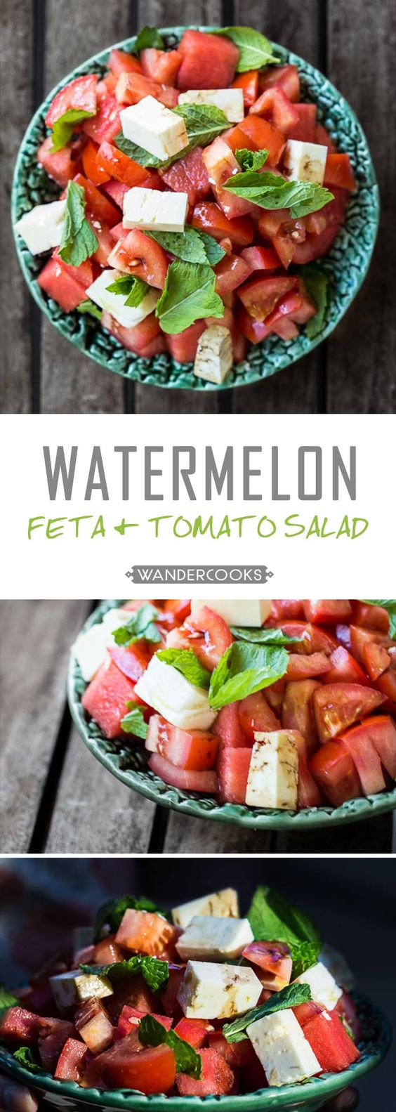 Greek Watermelon Tomato Feta and Peppermint Salad