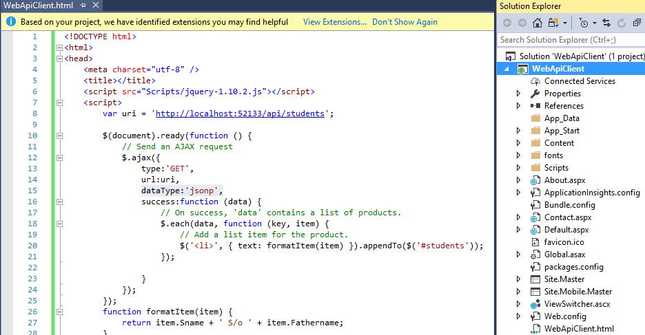Web API tutorial 17 Enabling Cross-Origin Requests in ASP