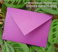 venta Finos Sobres  morados para tarjeta de boda en guatemala