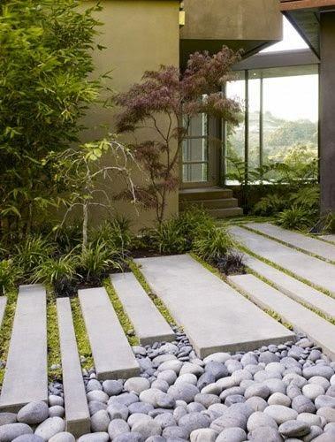 Mis notas del jard n dise os simples jardines contemporaneos - Baldosas de jardin ...