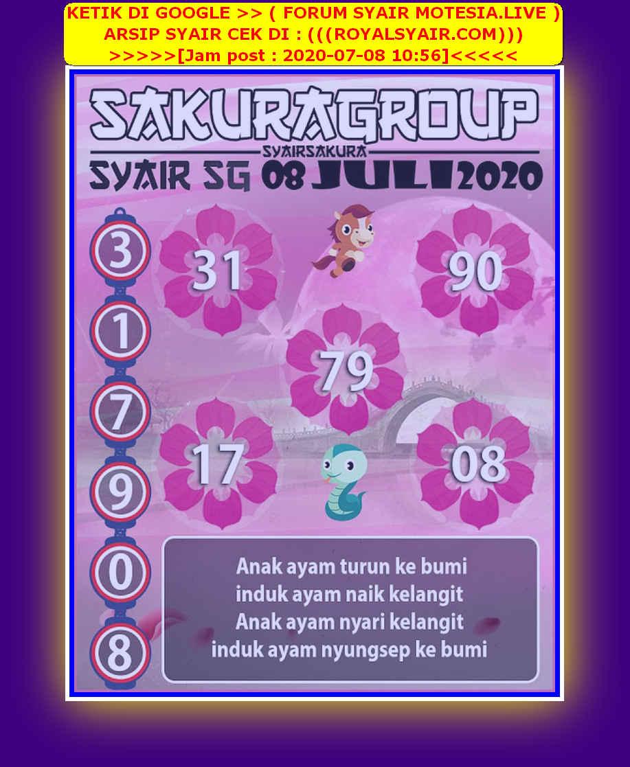 Kode syair Singapore Rabu 8 Juli 2020 171