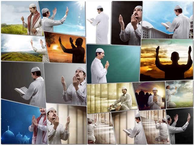 تحميل 20 صورة لرجل مسلم يدعو بجودة عالية