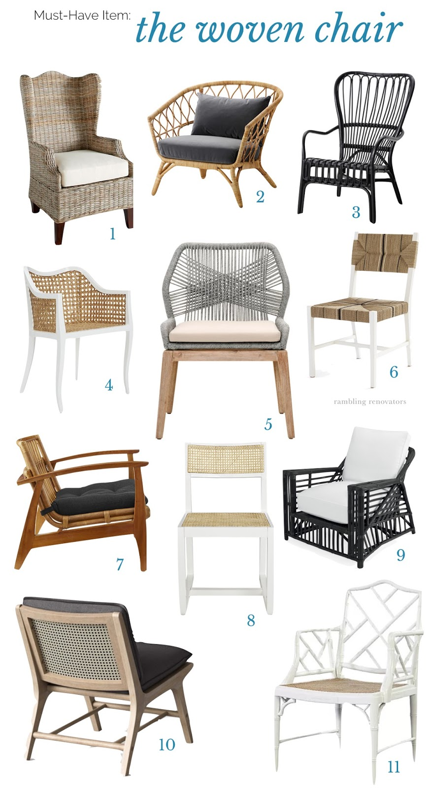 woven chairs, rattan chair, wicker chair | Ramblingrenovators.ca
