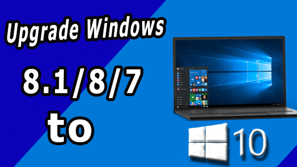 Upgrade Windows 8.1/8/7 to the final version of Windows 10 (without usb or dvd, without losing anything)