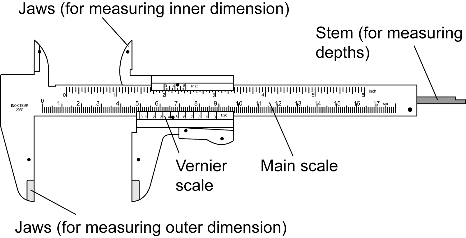 Vernier Caliper Reading Exercises With Answers