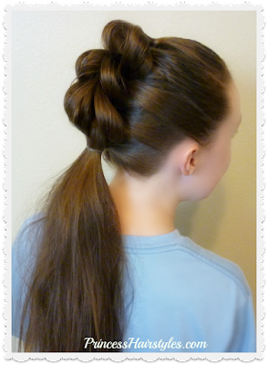 Cute 3 strand pull through braid faux hawk and ponytail tutorial.