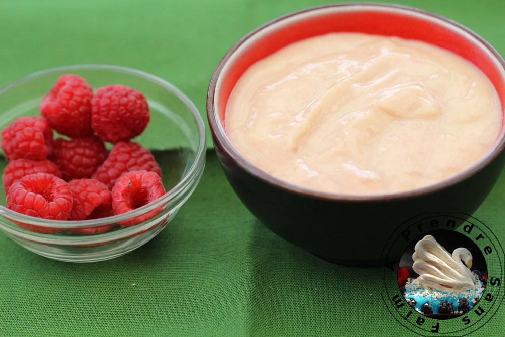 Crème pâtissière aux framboises