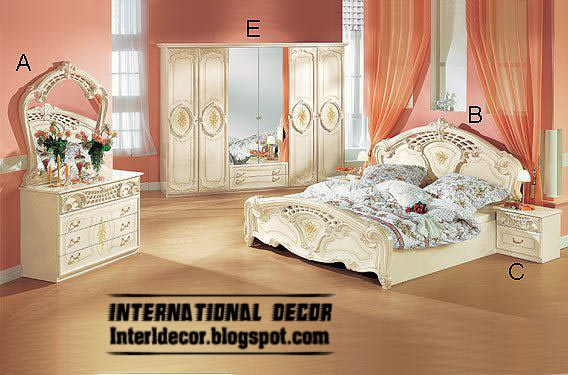 White bedrooms furniture, white furniture for classic bedrooms