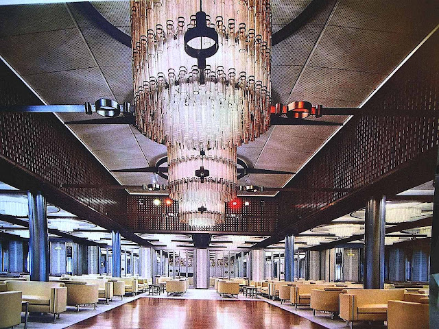 a 1960s Italian cruise ship interior photograph