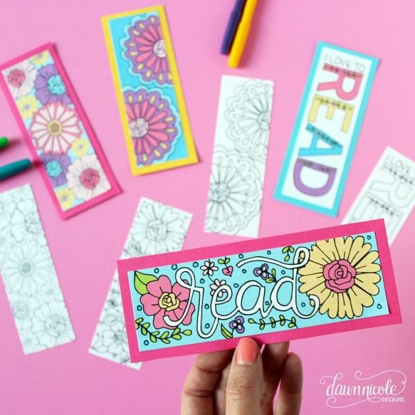 Molto Segnalibri da stampare e colorare | Creare con la carta ♥ PL53