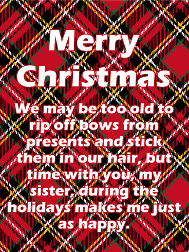 short christmas wishes for sisters
