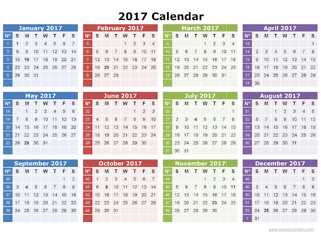 Get printable calendar free 2017 printable calendar for Yearly vacation calendar template