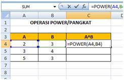 Cara Menggunakan Rumus Power atau Pangkat di Microsoft Excel