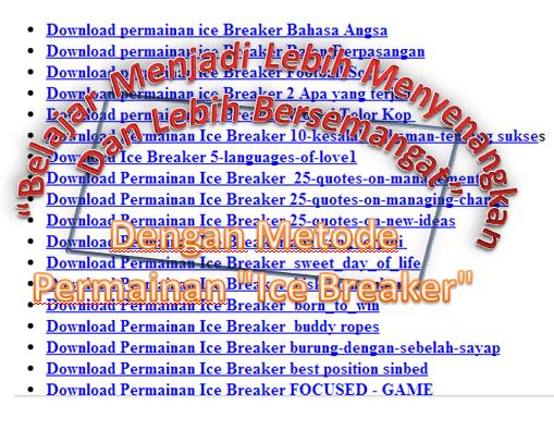 """Download Permainan Pembelajaran """"Ice Breaker"""""""