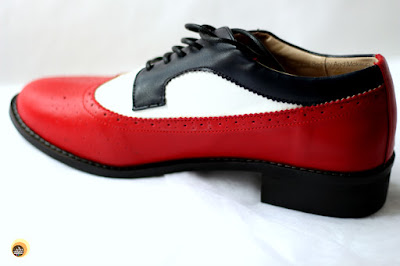 Review of FSJ Shoes low-heeled Oxford Patch-color Flat lace-Up Vintage Brogues Shoes on NBAM Blog