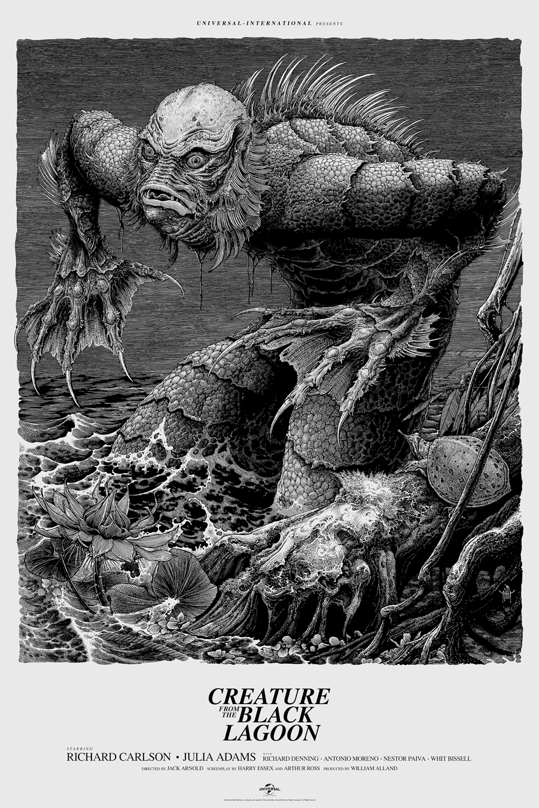Inside the rock poster frame blog for Creature from the black lagoon coloring pages