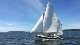 Video clip of Ellie under sail