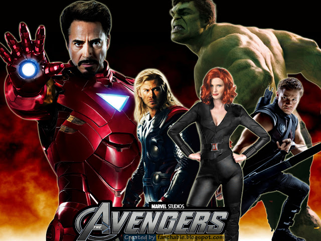 Iron Man, Thor, Hulk, Black Widow, Hawk eye, The Heroes