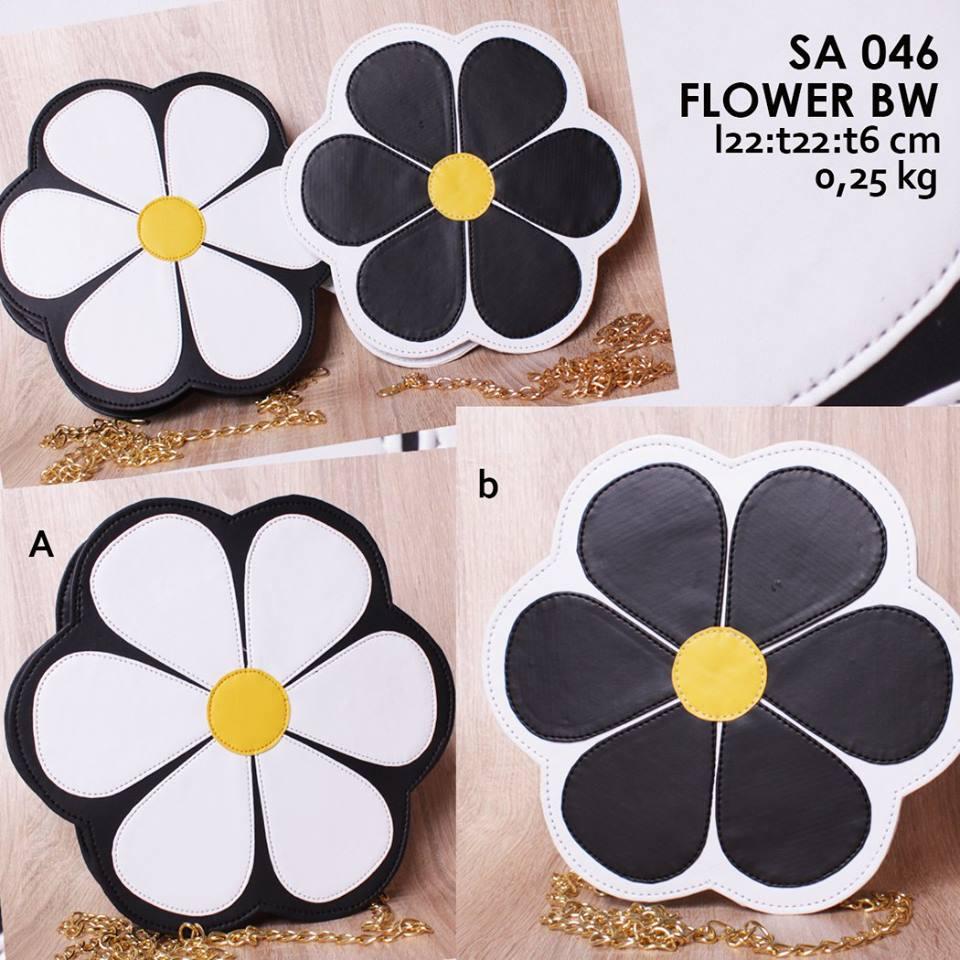 Jual Online Sling Bag Tali Rantai Unik Cantik Lucu Murah - Flower SA 046