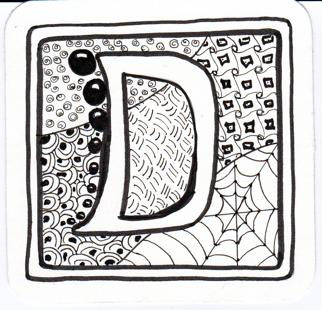 Blatherings and bothering: Zentangle Letters
