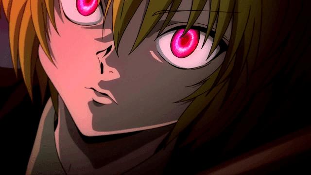 mata merah kurapika didapatkan karena dirinya adalah keturunan suku kuruta