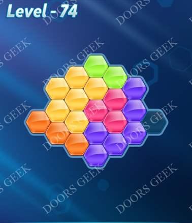 Block! Hexa Puzzle [6 Mania] Level 74 Solution, Cheats, Walkthrough for android, iphone, ipad, ipod