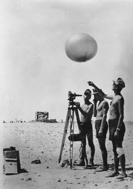German soldiers launching a weather balloon in Tunisia, 25 October 1941 worldwartwo.filminspector.com