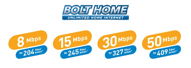paket internet unlimited BOLT HOME