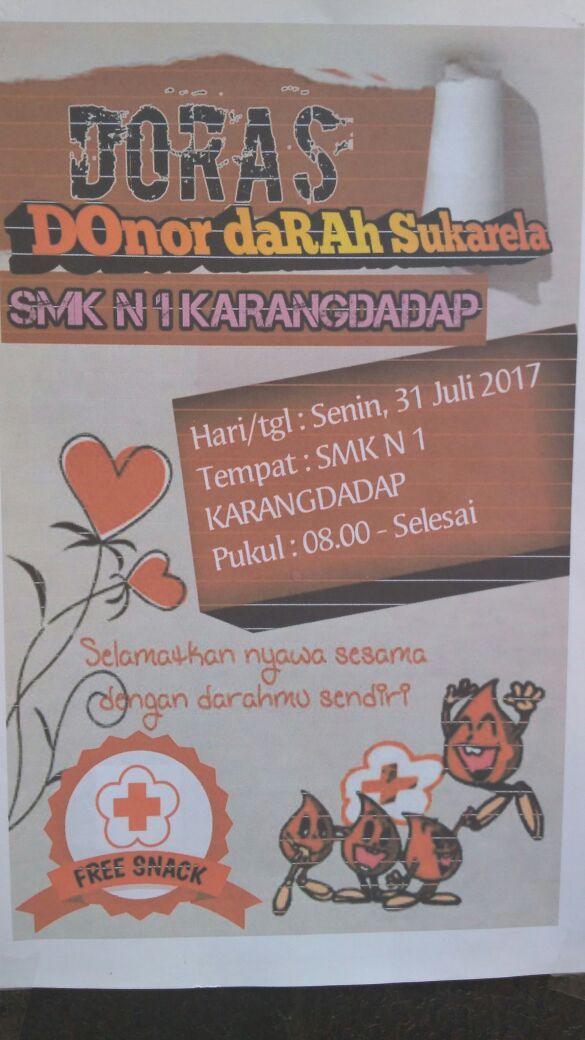 Donor Darah Bersama OSIS SMK N 1 Karangdadap