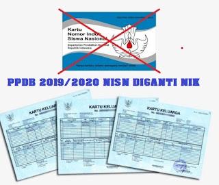 akan mengganti Nomor Induk Siswa Nasional  NISN DIGANTI NIK