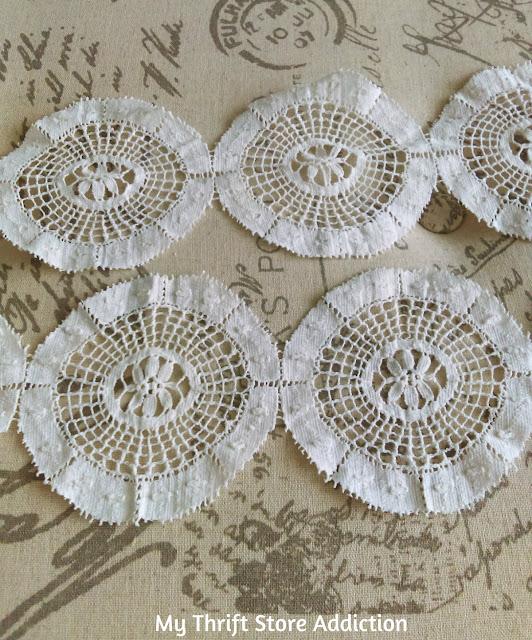 DIY Vintage lace garland and no sew Christmas tree skirt
