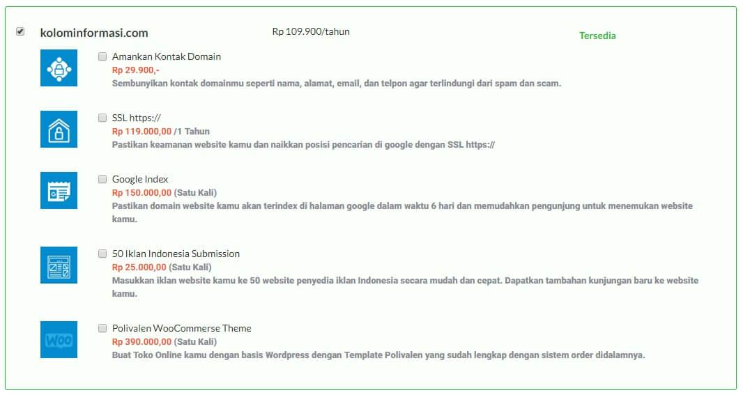 cara membeli hosting idwebhost
