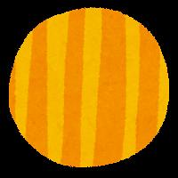丸い素材(黄色いストライプ)