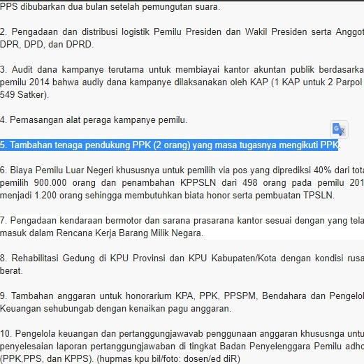 KPU RI Usulkan 2 Tenaga Pendukung untuk PPK Pemilu 2019