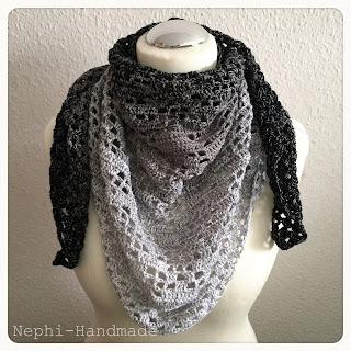 Motivtuch Tuch Thor's Hammer, crochet shawl