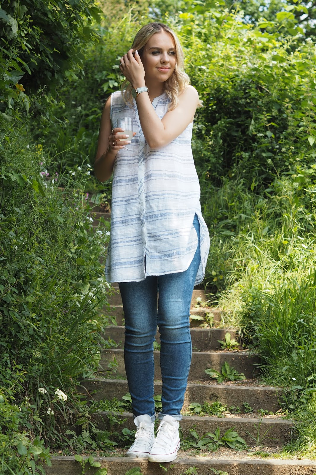 Fat face hettie stripe vest