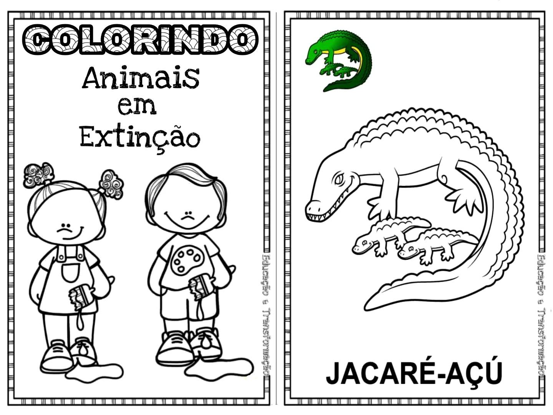 tag animais ameaçados de extinção no brasil para colorir