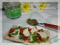Tartinade ails des ours, parmesan et tomates confites