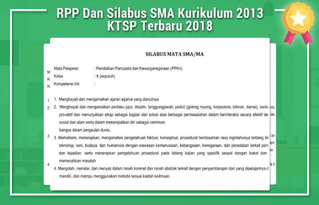 RPP Dan Silabus SMA Kurikulum 2013 KTSP Terbaru 2017